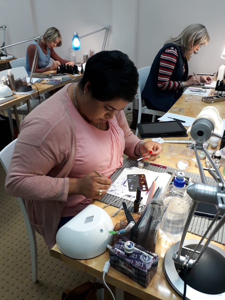 Professional nail technician training at Bio Sculpture